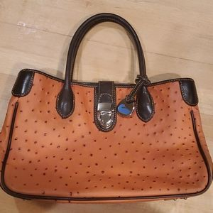 Dooney and Bourke embossed ostrich leather purse